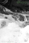 black and white waterfall, Granville Vermont