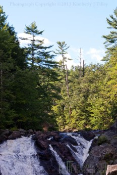 waterfall, summer, trees, landscape, new hamsphire, Kimberly J Tilley