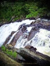 waterfall, summer, water, landscape, rocks, Kimberly J Tilley, new hamsphire, stone, vegetation, plants,