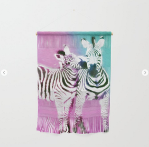 Zebra art wall hanging
